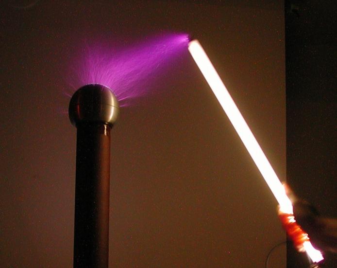 Tesla Coil and purple light